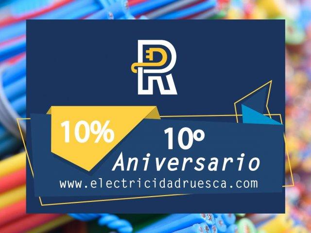 Descuento por 10 Aniversario de Ruesca Electricidad