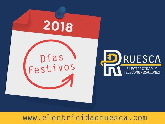 Calendario de días festivos 2018