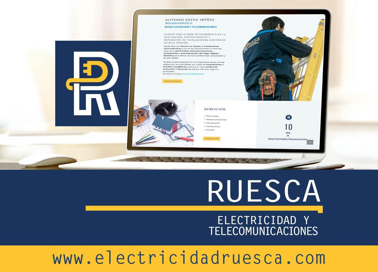 Nueva web de Ruesca Electricidad y Telecomunicaciones: www.electricidadruesca.com