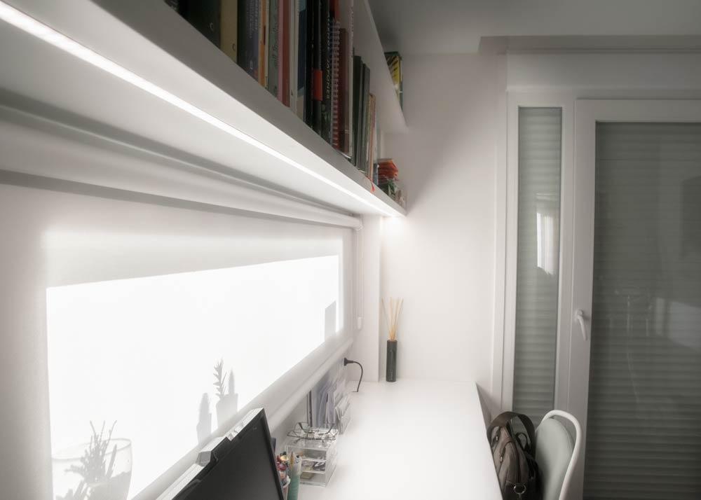 Lámparas LED en habitación