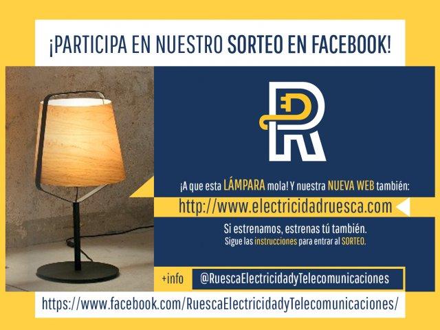 Sorteo de lámpara de diseño en Facebook de @RuescaElectricidadyTelecomunicaciones